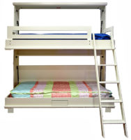 Newport style Bunk Bed in Paint Grade wood with an Alabaster finish.