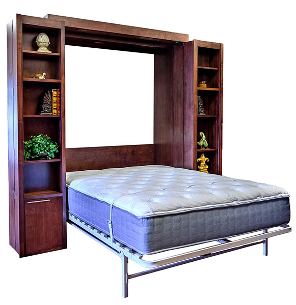 Price as shown $4,118. Price includes Queen size Bi-fold Bookcase Wallbed in Alder Wood / Cimarron Valley Finish and optional Scape style lower doors. Shipping Sale! For a limited time, Wilding Wallbeds will pay up to $400 of your shipping.