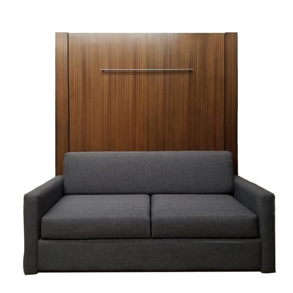 Price as shown $4,369. Price includes the Queen size Monaco style Sofa Murphy Bed in Mahogany wood with Autumn Haze finish. Sofa shown with Gray color fabric. Shipping Sale! For a limited time, Wilding Wallbeds will pay up to $400 of your shipping. Mattress sold seperately.