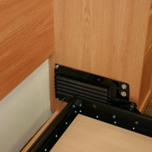 Murphy bed mechanism