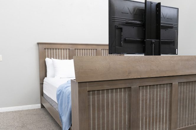 Graywash TV lift bed